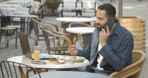 Śniadanie w outdoors kawiarni zbiory