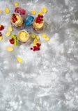 Śniadanie w szklanym słoju obraz royalty free