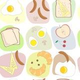 Śniadanie wzór stołowy bezszwowy Obraz Royalty Free