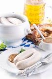 Śniadanie z weisswurst zdjęcia stock
