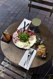 Śniadanio-lunch i napoje Fotografia Royalty Free