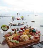 Śniadanio-lunch promocja przy restauracją Fotografia Royalty Free