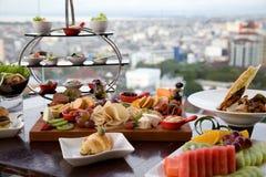 Śniadanio-lunch promocja przy restauracją Obraz Stock
