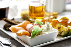 Śniadanio-lunch talerz zdjęcie stock