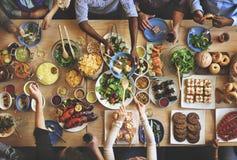 Śniadanio-lunch Wyborowy tłum Łomota Karmowe opcje Je pojęcie Fotografia Royalty Free
