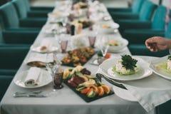 Śniadanio-lunch Wyborowy tłum Łomota Karmowe opcje Je pojęcie obraz stock