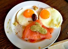 Śniadanio-lunch z ślicznym wzorem Fotografia Stock