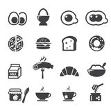 Śniadaniowa ikona Zdjęcia Stock