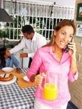 śniadaniowa rodzina Obrazy Royalty Free