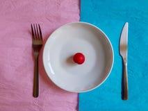 Śniadaniowego czasu projekta pojęcia minimalny pastelowy kolor Zdjęcie Royalty Free