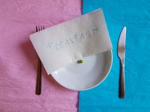 Śniadaniowego czasu projekta pojęcia minimalny pastelowy kolor Zdjęcia Stock