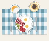 Śniadaniowego stołu położenie Obrazy Royalty Free