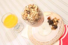 śniadaniowej diety zdrowy muesli jogurt Fotografia Royalty Free