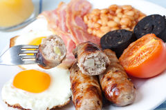 śniadaniowi anglicy folowali tradycyjnego Obraz Royalty Free