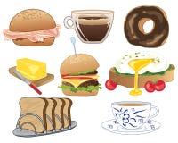 Śniadaniowi wybory cukierki i cząberu jedzenie Obrazy Royalty Free