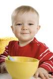 śniadaniowy chłopiec łasowanie zdjęcie royalty free