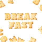 Śniadaniowy ciastko chrzcielnicy abecadło Zdjęcia Stock