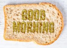 śniadaniowy dzień dobry zdjęcie stock