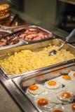 Śniadaniowy gorący bufet obrazy stock