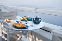 śniadaniowy halny położenia stołu widok Fotografia Stock