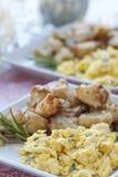 śniadaniowy jajko gramolił się Fotografia Stock