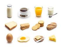 Śniadaniowy jedzenie i napoje fotografia stock