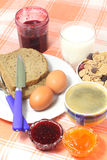 śniadaniowy kawowy dżem Zdjęcie Royalty Free