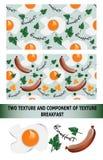Śniadaniowy plakat jajka smażąca niecki kiełbasa również zwrócić corel ilustracji wektora Fotografia Royalty Free