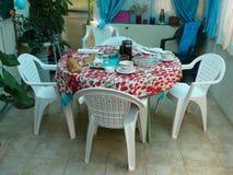 Śniadaniowy posiłek na stole Fotografia Royalty Free