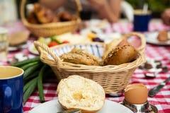 Śniadaniowy stół z serem Zdjęcie Royalty Free
