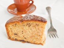 śniadaniowy tortowy czekoladowy naczynie pokrajać biel Zdjęcia Royalty Free