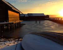 Śnieżna łódź Obraz Stock