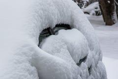 Śnieżna anomalia, śnieżyści samochody zdjęcie royalty free