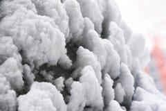 Śnieżna anomalia, śnieżyści samochody fotografia stock