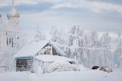 Śnieżna buda Zdjęcie Stock