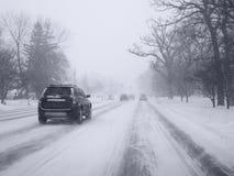 śnieżna burza Zdjęcie Royalty Free