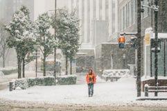Śnieżna burza w Yokohama, Japonia