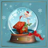 Śnieżna czarodziejka ilustracja wektor