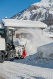 Śnieżna dmuchawa fotografia stock