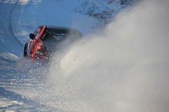 Śnieżna droga Zdjęcia Stock