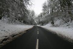 Śnieżna droga Zdjęcia Royalty Free