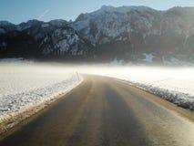 Śnieżna droga Fotografia Stock