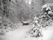 Śnieżna droga Obrazy Royalty Free