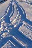 Śnieżna droga, zima Zdjęcie Royalty Free