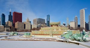 Śnieżna fontanna Fotografia Royalty Free