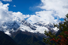Śnieżna góra Zdjęcia Stock