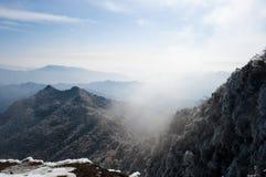 Śnieżna góra fotografia royalty free