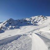 Śnieżna góra Fotografia Stock