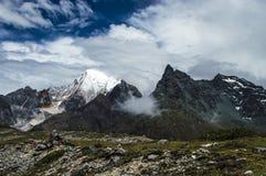 Śnieżna góra Aden, Sichuan Chiny Obrazy Stock
