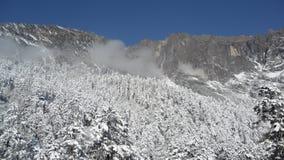 Śnieżna góra, porcelana Zdjęcia Stock